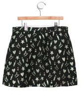 MSGM Girls' Metallic-Accented Mini Skirt