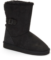 Pink Label Black Buckle Boot