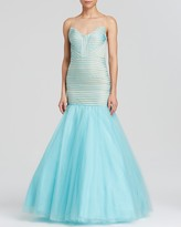 Finders Keepers Terani Couture Gown - Sleeveless Tulle Mermaid Skirt