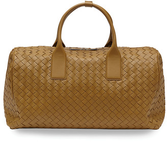 Bottega Veneta Men's Woven Leather Duffel Bag