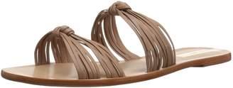 Kaanas Women's Iguazu Multi Strap Knotted Flat Leather Sandal Nude 10 Regular US