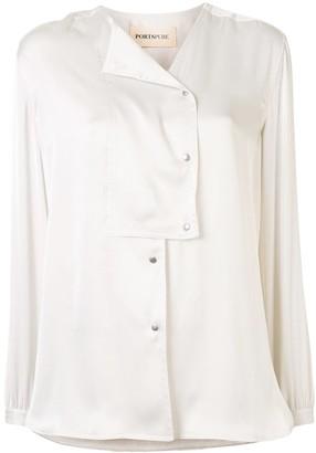 PortsPURE Asymmetric Press Stud Shirt