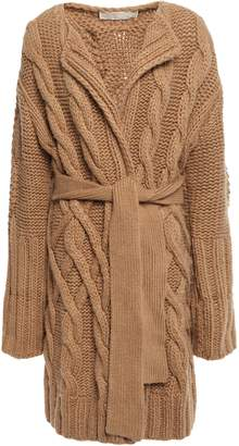 MICHAEL Michael Kors Belted Cable-knit Cardigan