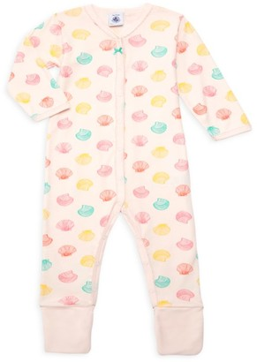 Petit Bateau Baby Girl's Shell Print Footie