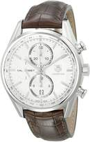 Tag Heuer Men's CAR2111.FC6291 Carrera Dial Leather Strap Chronograph Watch