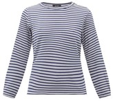 A.P.C. Sybille Striped Jersey Long-sleeve T-shirt - Womens - Navy Multi