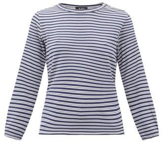 A.P.C. Sybille Striped Jersey Long-sleeve T-shirt - Womens - Navy Multi
