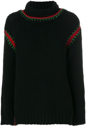 MONCLER GRENOBLE Embroidered Roll-Neck Sweater