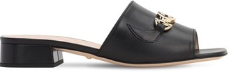 Gucci 25mm Zumi Leather Slide Flats