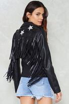 Nasty Gal nastygal Lucky Ones Vegan Leather Moto Jacket