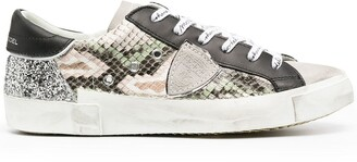 Philippe Model Paris Prsx Python Glitter low-top sneakers