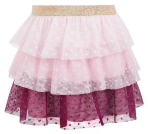 Epic Threads Toddler Girls Tiered Dot-Mesh Skirt, Created for Macy's