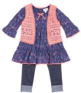 Little Lass 3-pc.Long Sleeve Vest Legging Set Baby Girls