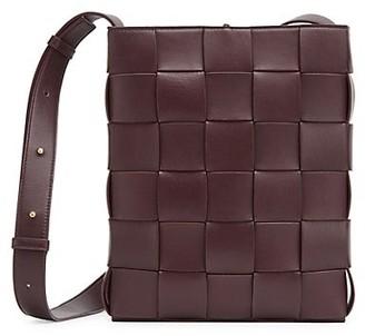 Bottega Veneta The Cassette Leather Messenger Bag