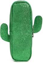 Forever 21 FOREVER 21+ Glitter Cactus Makeup Bag