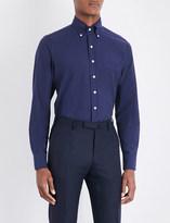 Drakes Regular-fit cotton Oxford shirt