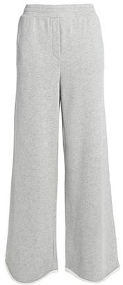 Alexander Wang Melange Cotton-blend Jersey Wide-leg Pants