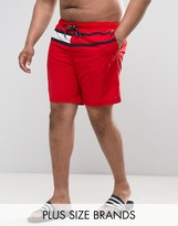 Tommy Hilfiger PLUS Flag Swim Shorts in Red