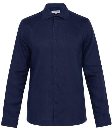 Orlebar Brown Giles Linen Shirt - Mens - Navy