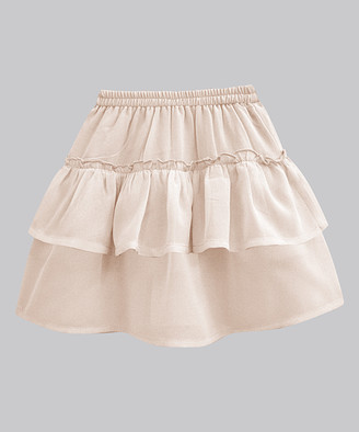 A.T.U.N. Girls' Casual Skirts coral - Coral Wash Georgette Ashley Skirt - Infant, Toddler & Girls