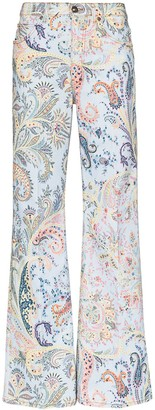 Etro Paisley flared jeans