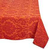 """Mahogany T28RT120 """"Large Damask Rust"""" Jacquard Weave Rectangle Tablecloth, 60 by 120-Inch, Rust"""