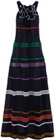 Sonia Rykiel Navy Braided Knit Halterneck Dress