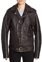Junya Watanabe Faux Leather Moto Jacket