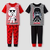 Star Wars Toddler Boys' 4-Piece Pajama Set - Black