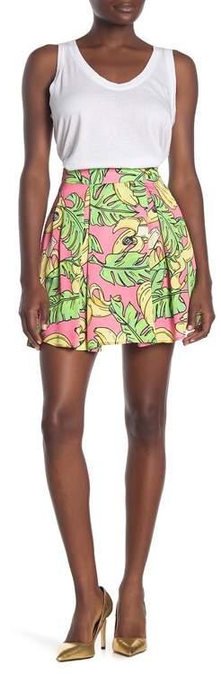 Love Moschino Banana Leaf Print Skirt