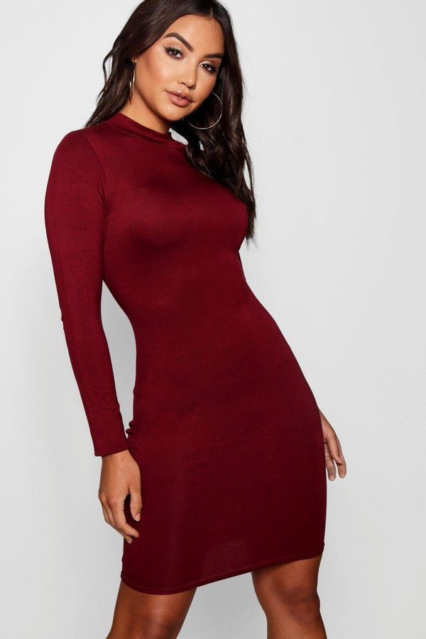 boohoo High Neck Bodycon Dress
