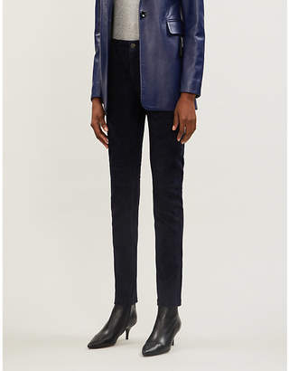 Joseph Cloud suede stretch-leather trousers