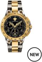 VERSACE Versace Sport Tech Blue And Gold Detail Chronograph 45mm Dial Two Tone Stainless Steel Bracelet Mens Watch