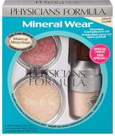 Physicians Formula Mineral Wear Flawless Complexion Kit, - Pressed Powder: 0.3 Ounce, Matte Finishing Veil: 0.58 Ounce and Pressed Blush: 0.19 Ounce