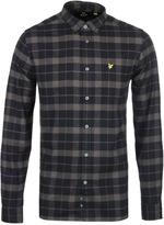 Lyle & Scott True Black Check Flannel Shirt