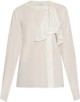 Lemaire Ruffle-trimmed cotton-poplin shirt