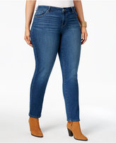 Style&Co. Style & Co Plus Size Striped Slim-Leg Jeans, Only at Macy's