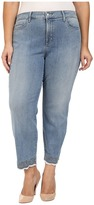 NYDJ Plus Size Plus Size Clarissa Ankle Jeans with Embroidered Hem in Parker