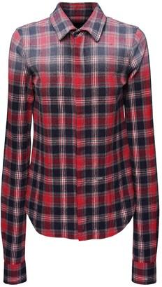 DSQUARED2 Gradient Check Cotton Flannel Shirt