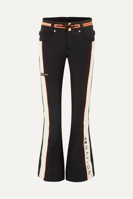 P.E Nation Dc Viva Striped Flared Ski Pants - Black