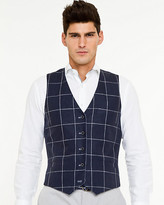 Le Château Linen Check Reversible Vest