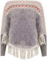 Izabel London Knitted Poncho