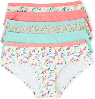 Rene Rofe Women's Underwear ASSTFASH - Gray & Mint Avocado Love Me More Cotton Hipster Set - Women