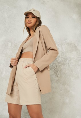 Missguided Petite Stone Co Ord Long Blazer