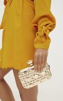 PrettyLittleThing Gold Embellished Box Clutch