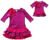 Dollie & Me striped drop-waist dress - girls 4 - 6x