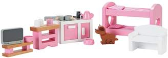 Chad Valley Wooden Dolls House Furniture Set