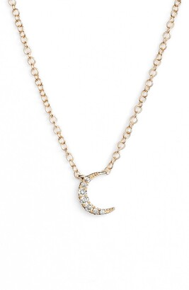 Ef Collection Mini Moon Diamond Choker Necklace