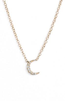 Ef Collection Mini Moon Diamond Choker Necklace