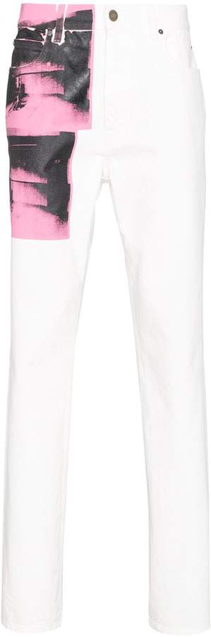 Calvin Klein x Andy Warhol Foundation Little Electric Chair jeans